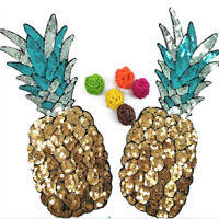 2pcs Pineapple Patch Embroidered Sew Iron on Applique Cloth Backpack Sew  UK