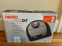 Neato Botvac D7 Wi-Fi Enabled Robotic Vacuum Cleaner Gray Brand New Sealed