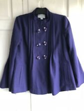 Monsoon Fusion Purple Wool Jacket Size 12