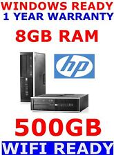 HP WIRELESS WIFI PC  CORE 2 DUO  COMPUTER PC 8GB RAM 500GB HDD WINDOWS 10 OR 7