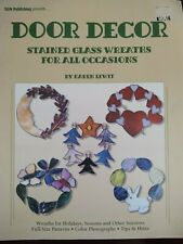 Door Decor - Stained Glass Wreaths for all Occasions - Stained Glass Pattern Boo