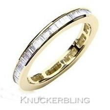Diamond Full Eternity Wedding Ring 1.00ct F VS1 VG Baguette Cut set in 18ct Gold
