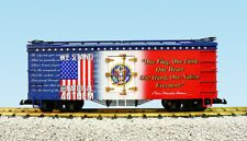 USA Trains G Scale R16027 WE STAND 4 THE NATIONAL ANTHEM PATRIOTIC CAR - RED/