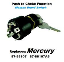 Boat Ignition Key Switch Push to Choke Mercury OFF-ON-START replaces 87-88107