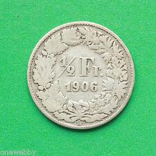 1906 Svizzera 1/2 Franco Argento SNo19916