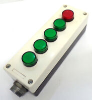 LOVATO CONTROL STATION 8L2PP5A8 W/RED (1) & GREEN (4) INDICATOR LIGHTS