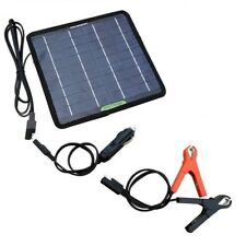 car battery travel charger light solar power sun 5W 12V