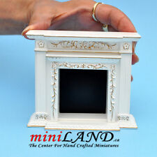 Fine Quality Fireplace For Dollhouse Miniature 1:12 White Wood