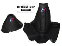 For Bmw Z4 E85 E86 Automatic Gear & Handbrake Gaiter Black Leather M3 Embroidery