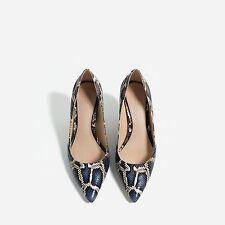 Zara Printed Medium Heel Shoes Size 38 ,39,40,41