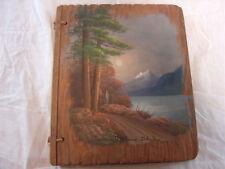 Vintage Hand Painted Photo Album Coeur d'Alene Idaho Folk Art Souvenir 00640S