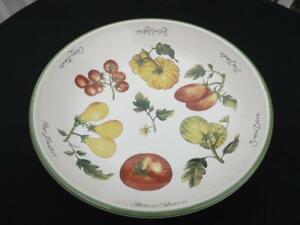 "Williams Sonoma Heirloom Tomatoes 13"" Pasta Serving Bowl EXC"