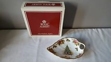Royal Albert Old Country Roses Christmas Magic Handled Leaf Dish NIB