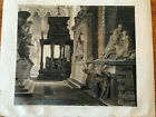 ORIGINAL AQUATINT from Ackermann's WESTMINSTER ABBEY 1812 Amazing Tomb Sculpture