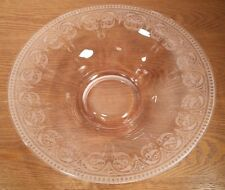 "Cambridge Glass Pink Majestic 12.5"" Centerpiece Bowl"