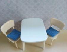 Tisch Stühle Küchentisch Puppenstube Crailsheimer 50er J Möbel Küche rar in blau