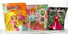 Vintage Lot of 2 Barbie Paper Dolls & The World Of Barbie First Annual Magazine