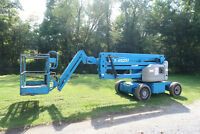 Genie Z45/25J DC Manlift, 45' Articulating Boom Lift, Electric, JLG E450, Aerial