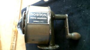 BOSTON celluloid rotary wall / desk mount Pencil Sharpener Camden NJ antique old