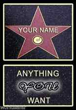 NEW & PERSONALISED HOLLYWOOD STAR WALK OF FAME, CHRISTMAS PRESENT FOR MUM OR DAD