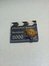 Collectible Cherished Teddies Charter Membear 2000 Brooch Pin Teddy Head #208