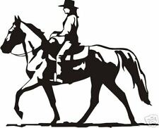 Horse Gaited Cowgirl Rider Equestrian Trailer Decal 10""