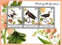 Grenadines Grenada 2013 MNH Birds of Caribbean 3v M/S I Ibis Sandpipers Stamps