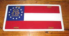 "New Georgia Flag ""In God We Trust"" Metal License Plate Auto Car Tag 6""x12"""