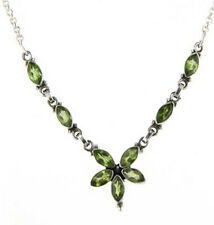Peridot Necklace set in Sterling Silver