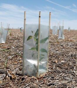 Tree Guard Plastic Sleeve 350mm x 450mm Pk 50 Light Green Landscaping Planting