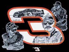 (3) Dale Earnhardt Sr 3 Glossy Vinyl Window Stickers 5x4 Bumper Decal NASCAR