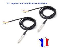 2x DS18B20 Dallas 1-Wire Digital Thermometer Etanche (Waterproof)