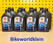 (6,50€/L) 12x1 L Shell Advance Ultra 15 W 50 Motoröl Motorrad Vollsynthetik 4