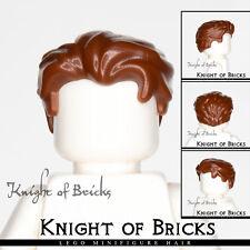 LEGO Minifigure Hair BROWN 25972 Male Boy Swept Back Widow's Peak Side