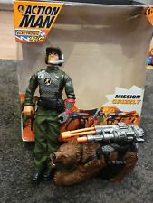 """BOXED 12"""" HASBRO 1999 ACTION MAN AND BEAR MISSION GRIZZLY FIGURE ACCESSORY"""