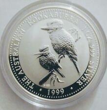 1999 Australian Kookaburra, 1 oz BU-ST Silver with (round) PM capsule