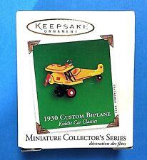"""Hallmark Keepsake """"1930 Custom Biplane"""" Kiddie Car Miniature Ornament 2002"""