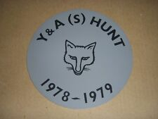 1978 YORKSHIRE FOX HUNTING STICKER - YORK & AINSTY (S) HUNT