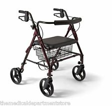 Extra Wide Rollator Walker Heavy Duty Bariatric  400 LBS Capacity By Medline NEW