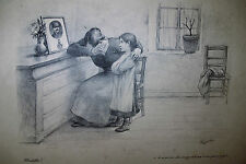 Félix LACAILLE (1856-1923), GRANDE LITHO 14-18 CENSUREE + 2 DESSINS ORIGINAUX