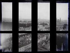 PLAQUE VERRE PHOTO NEGATIF NANCY PLACE CARRIERE STANISLAS depuis St-Epvre v.1880