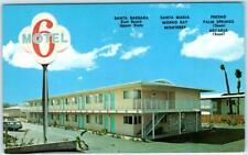 SANTA BARBARA, CA  California   MOTEL 6    c1960s  Car  Roadside  Postcard