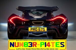 PROSTS, PRO 57S, PROST, PRO, F1, Private Plate, Cherished Numbers, Registration