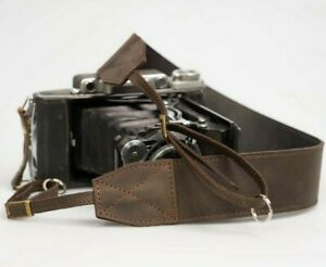 Leather camera strap POHVALIN photographer gift, Harness for Canon, Nicon, Sony