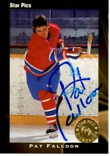 1991 Star Pics Pat Falloon Autographed Signed Card Hockey