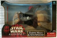 "STAR WARS EPISODE I DARTH MAUL & SITH SPEEDER 12"" ACTION FIGURE & VEHICLE SET"