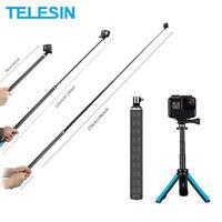 TELESIN 23CM 90CM 270CM Selfie Stick for GoPro Max Osmo Action Insta360 ONE R