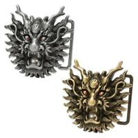 Buckle Rage Dragon Head with Pearl Snap On Belt Buckle