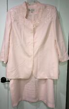 Peggy Burns Pink Mother Of The Bride Formal 2 Pc Dress Women's 22W