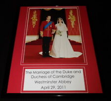 2011 Prince William Marries Kate Middleton Cambridge Framed 11x14 Photo Display